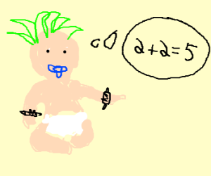 punk baby sucks at math