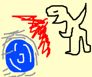 Sonic tames a dragon