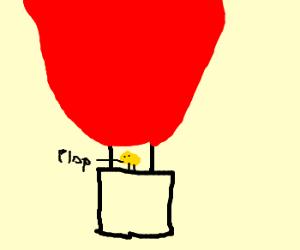 Chicks lay eggs in hot air balloon
