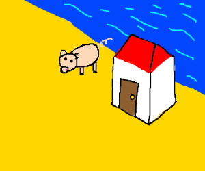 This little piggie lives by the sea...