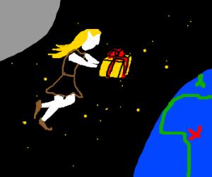 moon sends gift 2 nigeria via elf-girl