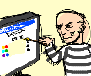 Picasso plays drawception