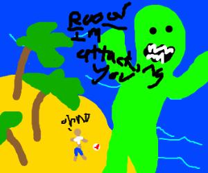 monster attk castaway on an island