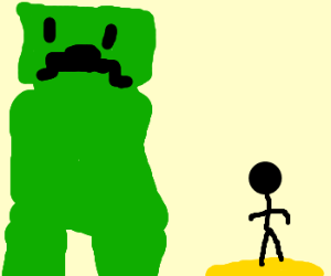 Giant Creeper finds man in desert island