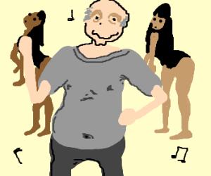 old man dances to Single Ladies