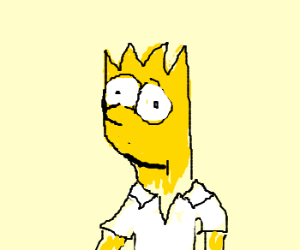 Bart simpson with homer's clothes