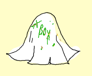 Xbox written on napkin with booger