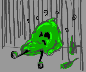 green ghost is depressed