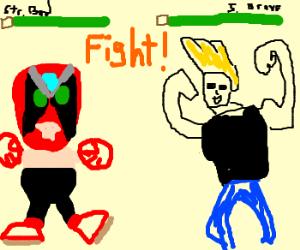 Johnny Bravo vs. Strongbad...FIGHT!