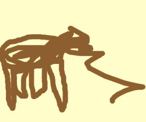 A creepy man propositions a horse