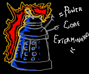 Dalek exterminates alien power core