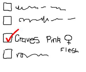 Tick box craves pink woman flesh