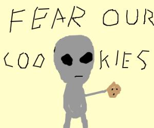 Aliens invade using cookies
