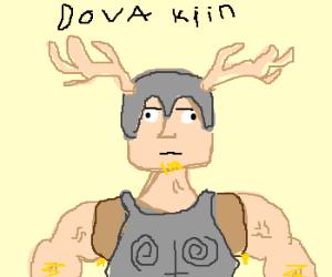 skyrim dude with antler helmet