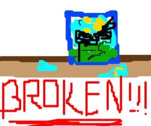 depiction of a broken image