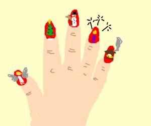 Exaggarated nail art