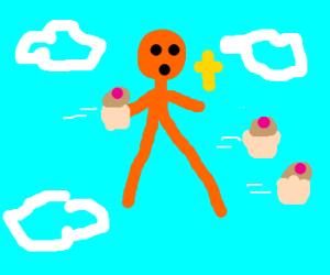 God fights holy war with pancake batter!