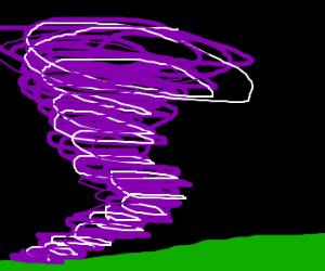 Lost in a purple vortex