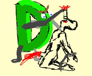The letter D kills naked man