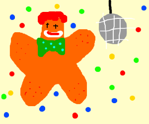 Clown-Starfish enjoys the disco