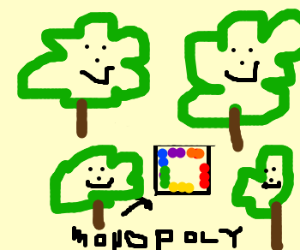 Happy Tree Friends playing monopoly