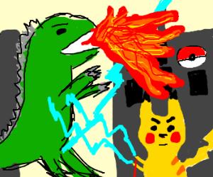 godzilla vs pokemon
