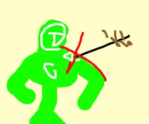 green pow ranger impervious to arrows