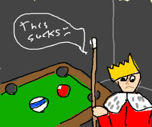 Little prince hates playing billiards