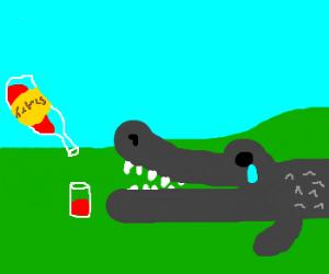 Slutty wine satisfies aligator