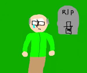Mr Garrison mourns the death of Mr Head