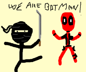 Ninja & Deadpool claim to be Batman