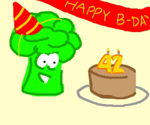Brocolli celebrates 42nd birthday