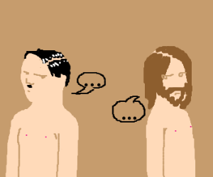 Naked Hitler and Jesus are not friends