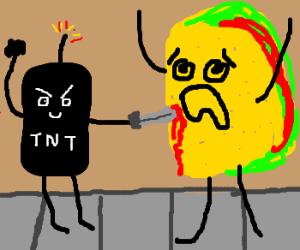 Black Dynamite kills a taco