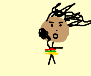 rasta man gettin high. hell yeah.