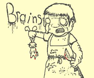 Zombie-Bunny-Butcher wants ur brain