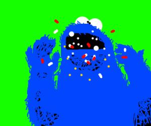 cookie monster doing drugs