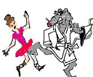 kung fu mouse kicks ballerina