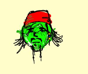 Johnny Depp as a head of lettuce