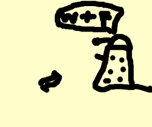 Old Dalek cannot comprehend bacon