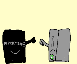 PS3 beats Xbox at rock paper scissors