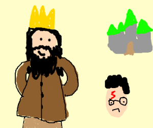 Hagrid Becomes King of Hogwarts