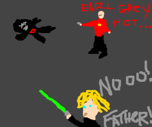 Piccard beat Luke to Darth Vader
