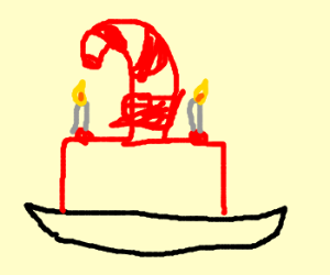 Candy Cane's birthday cake