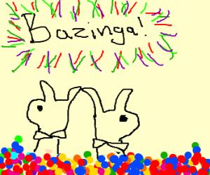 Bazinga! Playboy Bunnies in the ballpit!