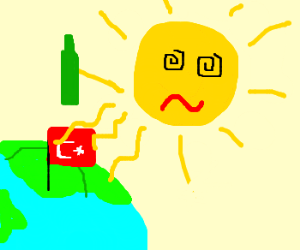 Alcoholic sun decides to quit cold turkey.