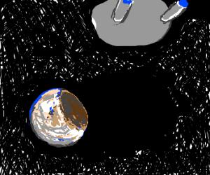 enterprise meets invisible planeteating bear