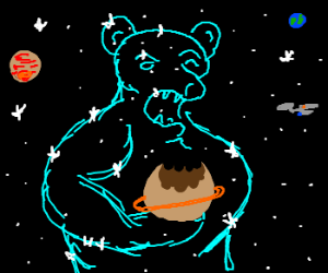 Pluto eaten by Ursa Major. Enterprise Looks on