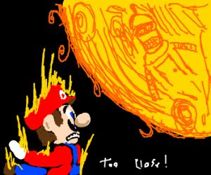 Mario flies too close to robot-inhabited sun