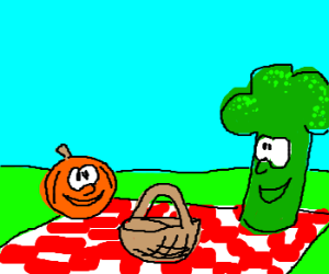 OMG! Vegetable Picnic Break! They so Happy!